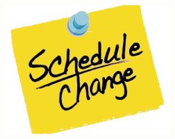 Image result for meeting schedule changes